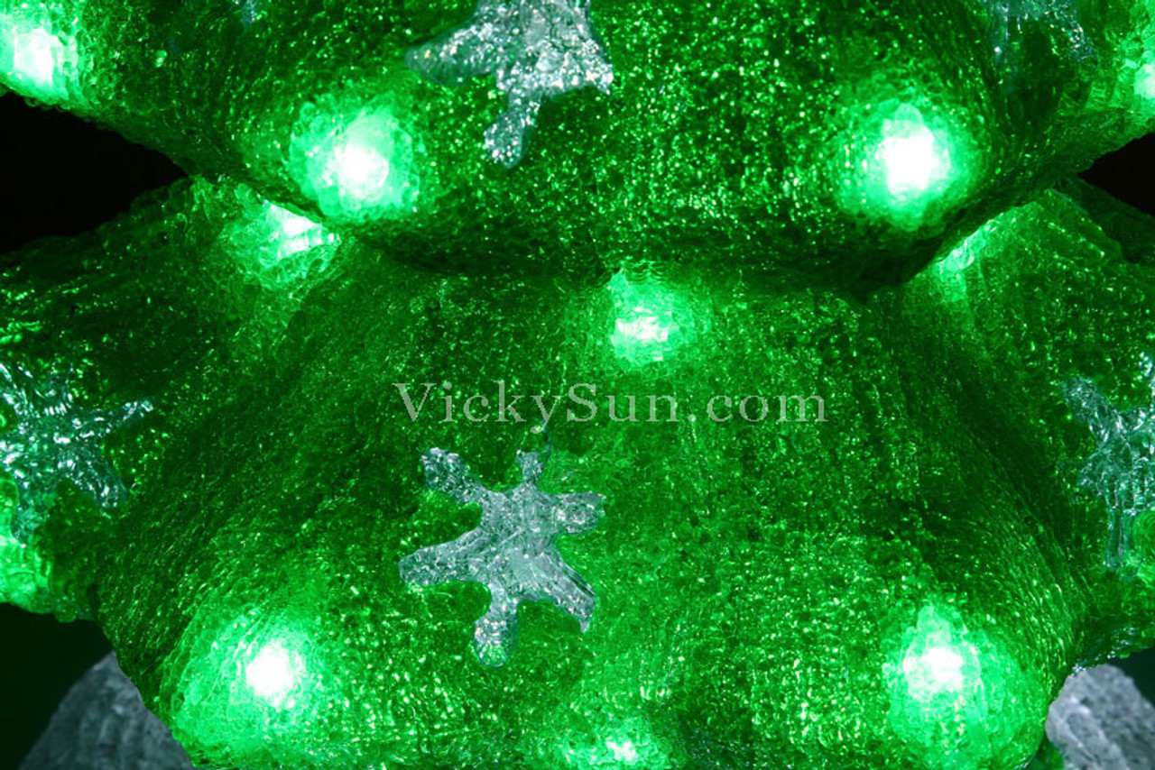 Green Christmas Lights.51cm 3d Acrylic Christmas Green Tree With 60 White Led Christmas Lights