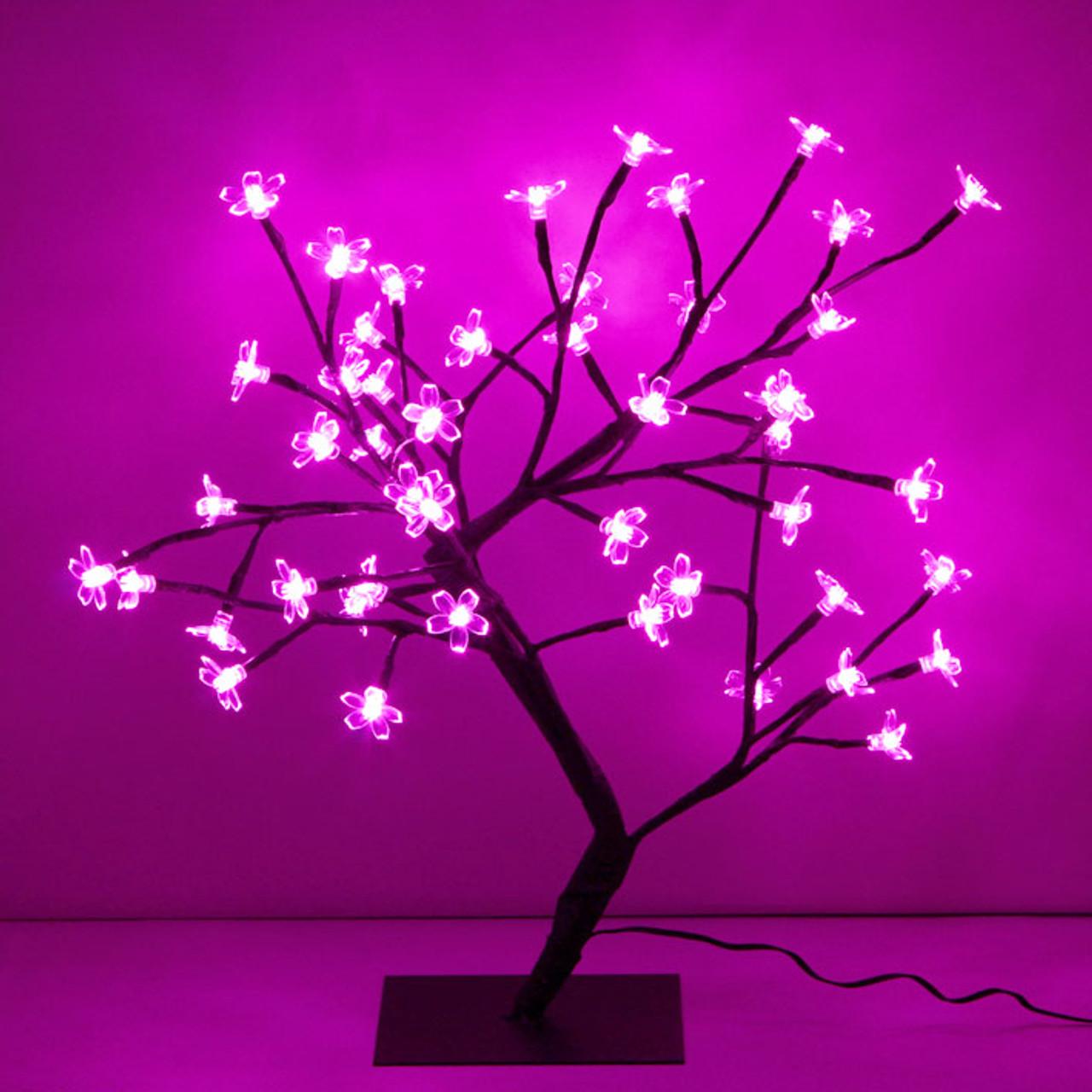 official photos 238f8 46ac4 45CM 48 LED Pink Cherry Tree Lights Christmas Wedding Decoration