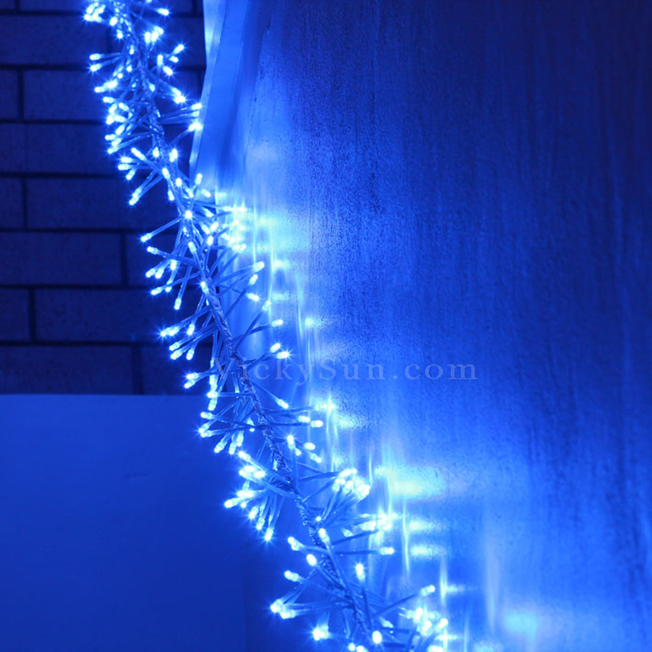 Chaser Christmas Lights.10m 840 Led Blue Firecracker Chaser String Christmas Lights Clear Wire