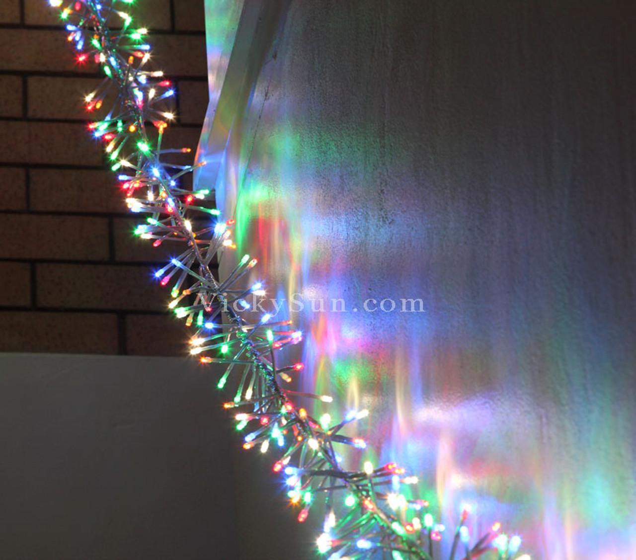 Chaser Christmas Lights.5m 520 Led Multi Colours Firecracker Chaser String Christmas Lights Clear Wire