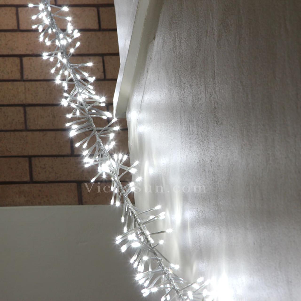 Chaser Christmas Lights.5m 520 Led White Firecracker Chaser String Christmas Lights Clear Wire
