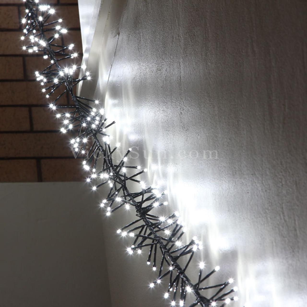 White String Christmas Lights.7 5m 672 Led White Firecracker Chaser String Christmas Lights Green Wire