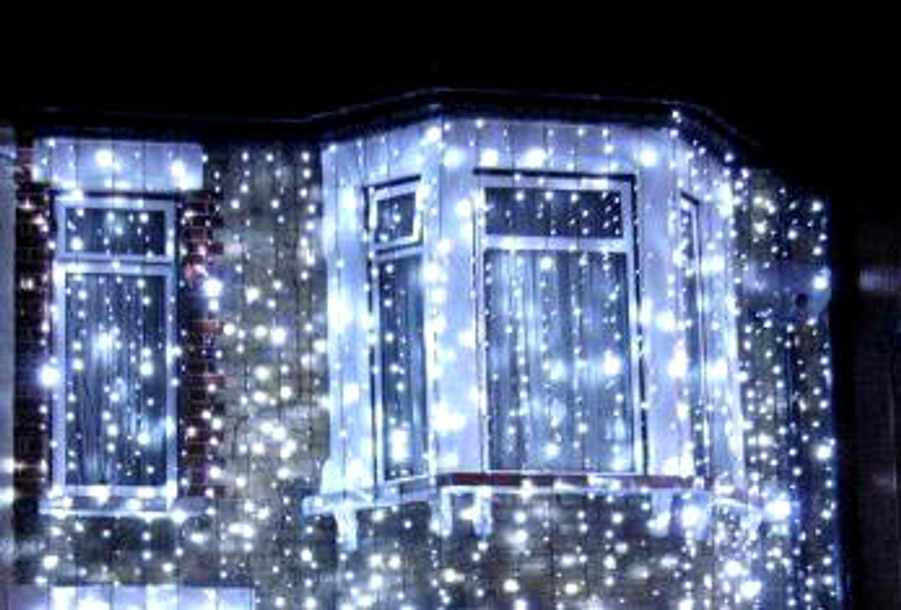 180 LED White Connectable Wedding Curtain Backdrop Lights with 8 Functions  & Memory 3M X 2 5M