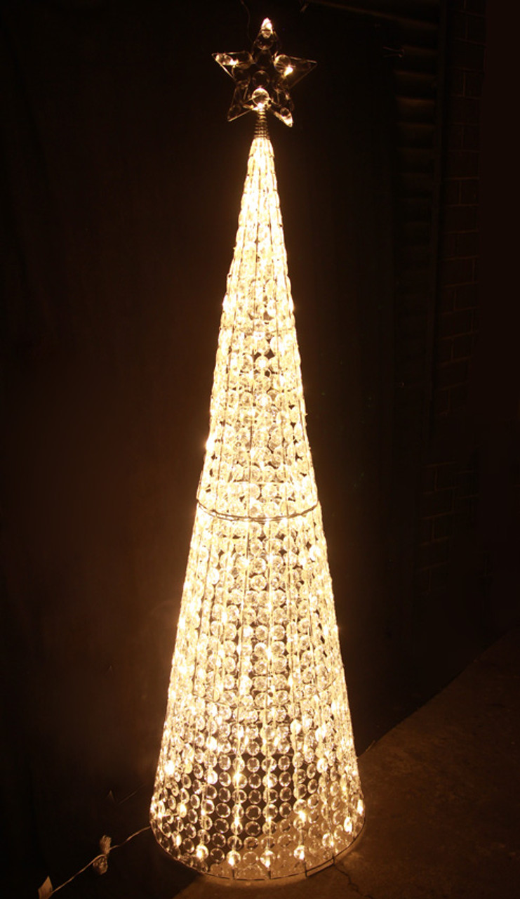 Led Christmas Lights Warm White.167cm 3d Led Warm White Acrylic Beads Cone Tree Christmas Lights