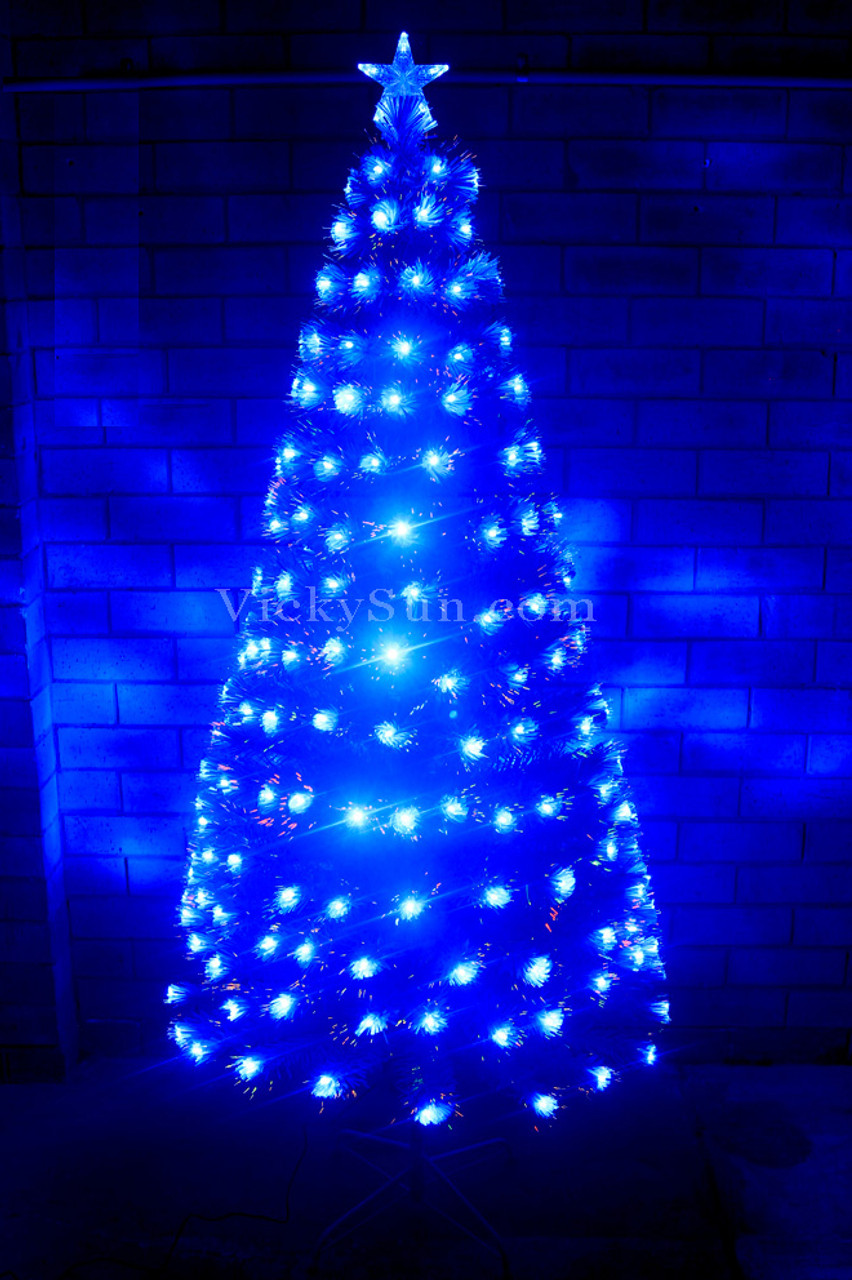 180cm White Christmas Tree With Led Blue Lights Synced To Music Vickysun Com