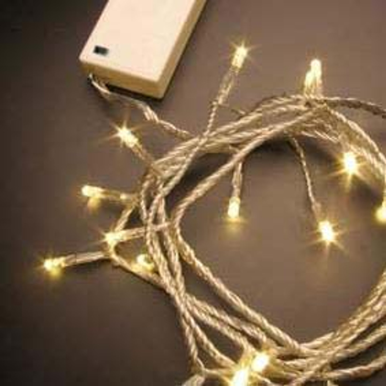 6M 60 LED Warm White Wedding Battery Operated Fairy Lights Flash & Static  for Centerpieces