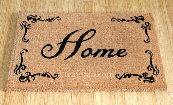 Heavy Duty Coir 'Home' Doormat Outdoor Mat 90cm x 60cm