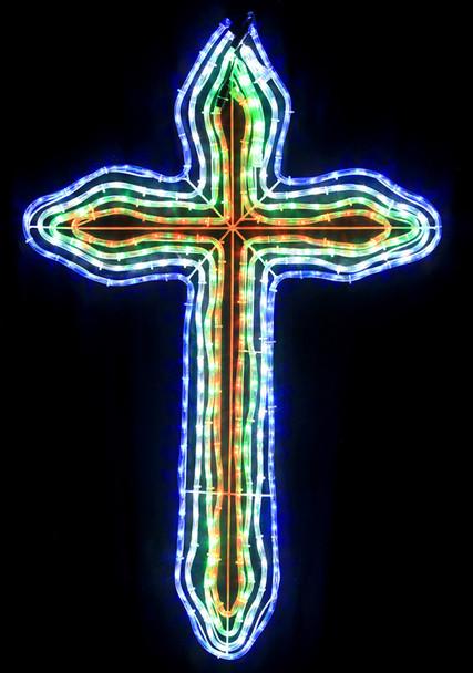 120CM LED 4 Layers Multi Colours Christmas Cross Motif Rope Lights