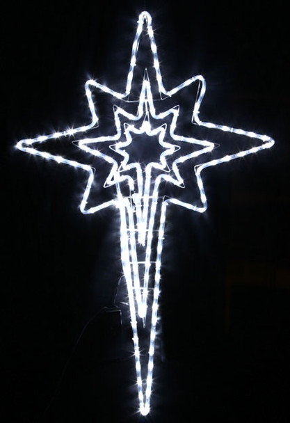 Animated 120CM LED Flashing White Nativity Star Christmas Motif Rope Lights