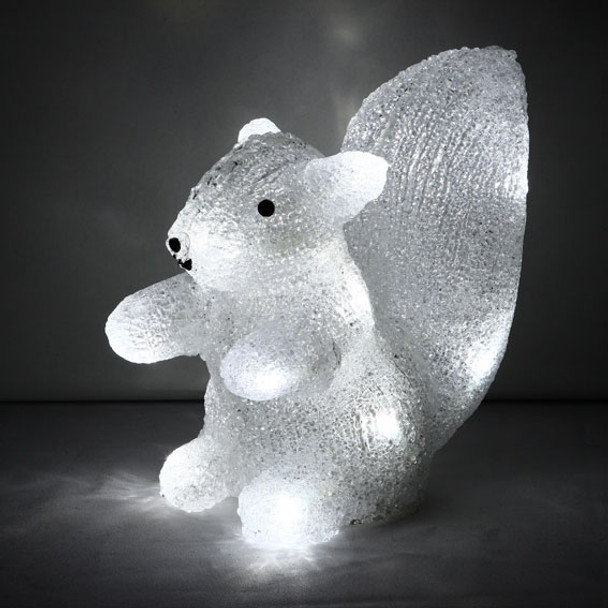 Battery Operated 20CM 3D Acrylic Baby Squirrel White LED Christmas Lights