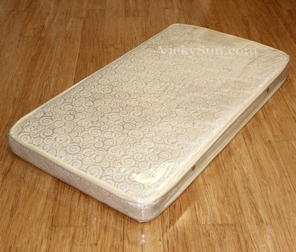 Breathable Innerspring Cot Mattress, 130 x 70 x 10 cm