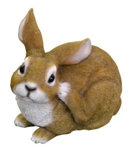 21CM Rabbit Squatting Polyresin Garden and Home Decor