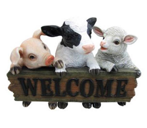 30CM Welcome Pig Cow & Sheep Polyresin Garden and Home Decor