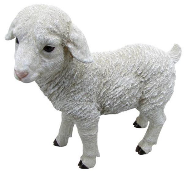 39CM Lamb Large Polyresin Garden and Home Decor