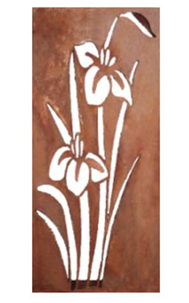 100CM Lily Wall Plaque Steel Garden and Home Wall Decor