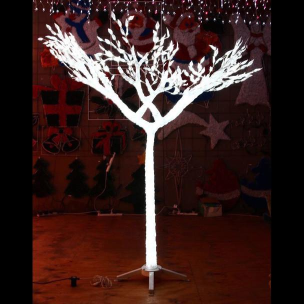 150CM 3D Acrylic White Tree with 900 White LED Lights Christmas Wedding Decoration