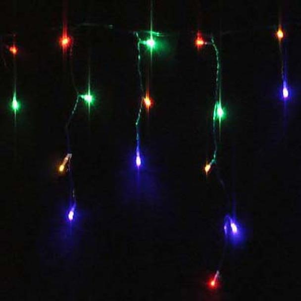 200 LED Multi Colours Christmas Icicle Lights