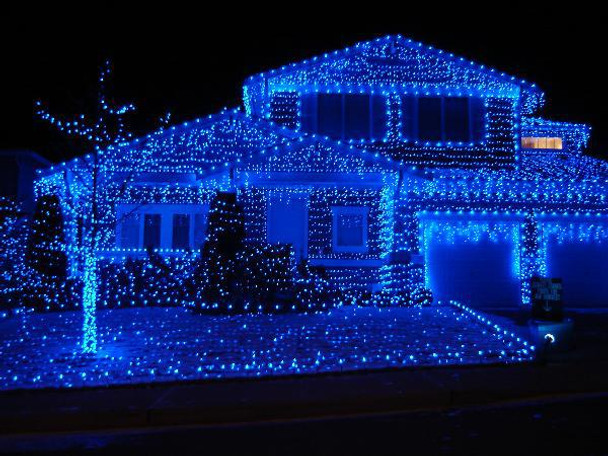 Christmas String Lights.5m 520 Led Blue Firecracker Chaser String Christmas Lights Clear Wire
