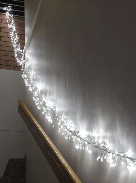LED White Firecracker Chaser String Christmas Lights