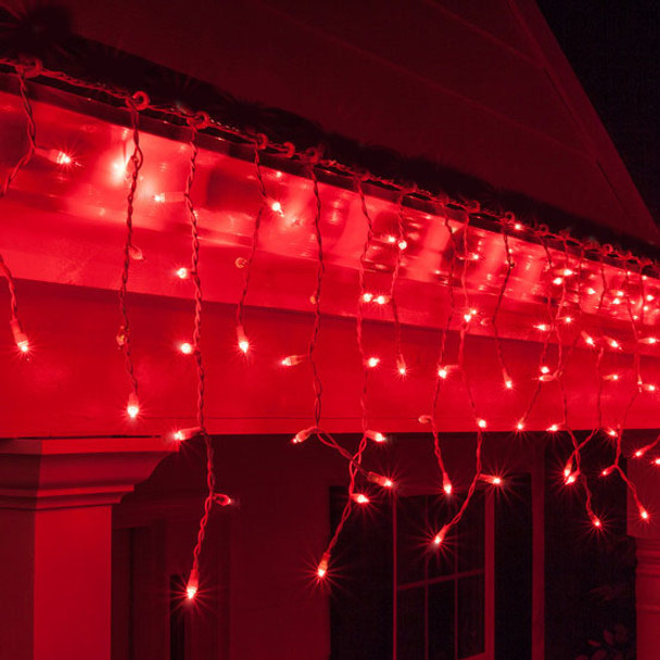 Red Christmas.12 5m 292 Led Red Christmas Icicle Lights With 8 Functions Memory