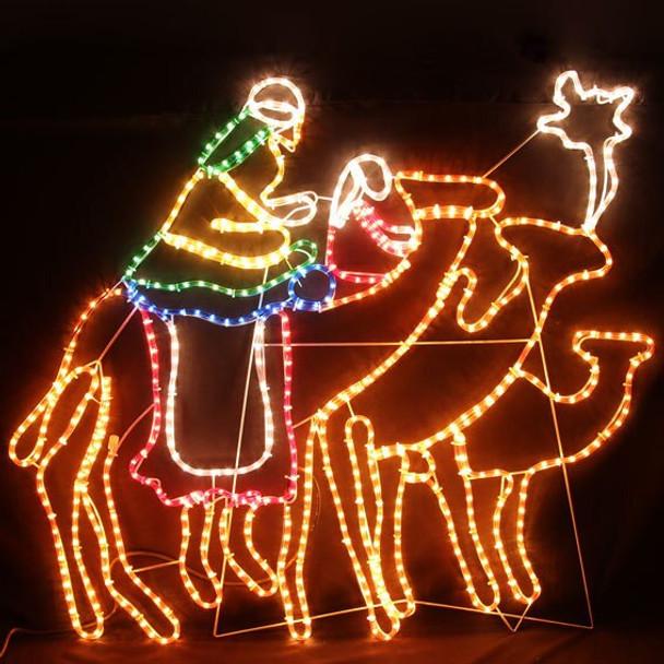 120CM Wise Men Riding Camels lights