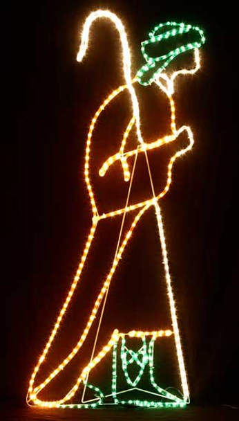 150CM High Nativity Shepherd Christmas Motif Rope Lights
