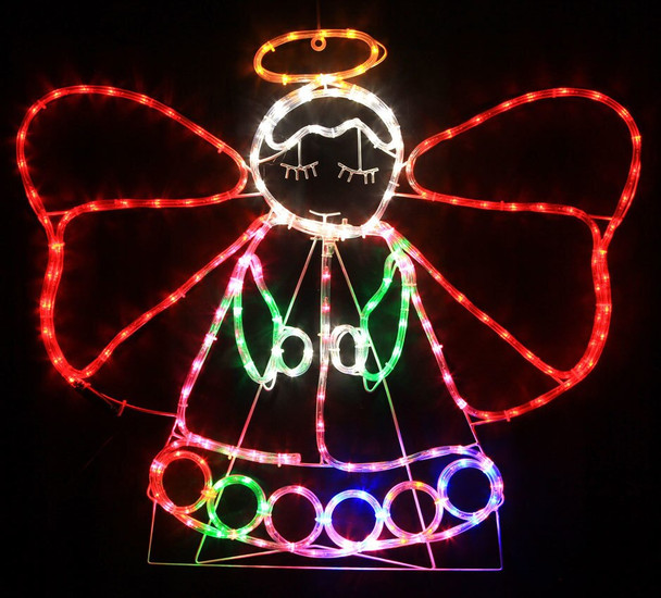 88CM LED Colourful Cute Angel Christmas Motif Lights