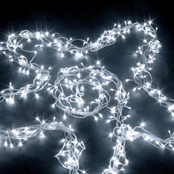 30M 350 LED IP44 White Christmas Wedding Party Fairy Lights with 8 Functions (Clear Cable)