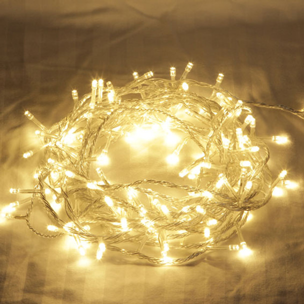 16M 200 LED IP44 Warm White Christmas Wedding Party Fairy Lights with 8 Functions (Clear Cable)