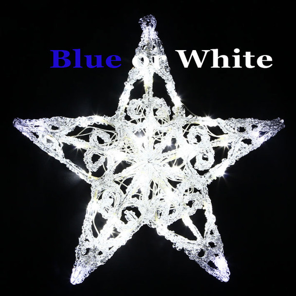 Acrylic Star 40 LED Colour Changing Blue and White Christmas Lights