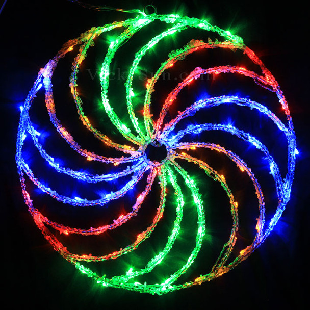 50CM Acrylic Spinning Disc with 104 Multi Colours LED Christmas Lights