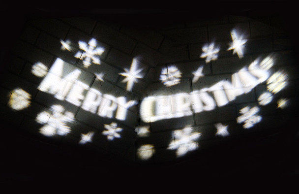 LED White Laser Projector Rotating 'Merry Christmas' Sign Lights