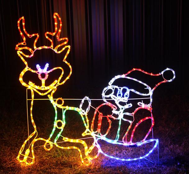 110CM LED Cute Santa Reindeer Christmas Motif Rope Lights
