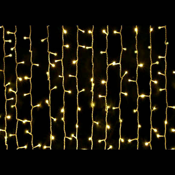 LED Christmas Curtain Warm White Lights
