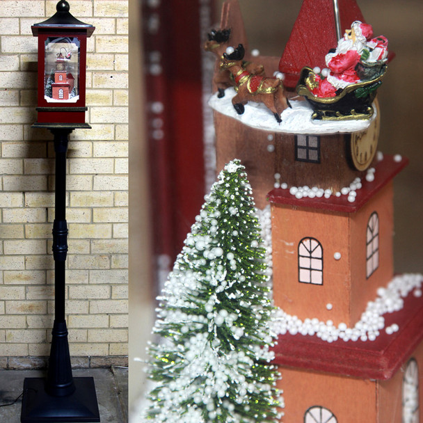 192CM Santa Reindeer Snowing Christmas Lamp Post