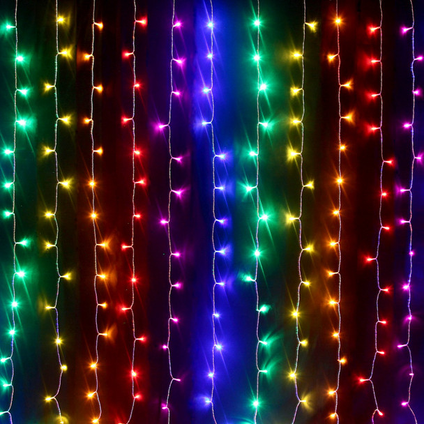 360 LED Rainbow Multi Colour Wedding Curtain Backdrop Lights