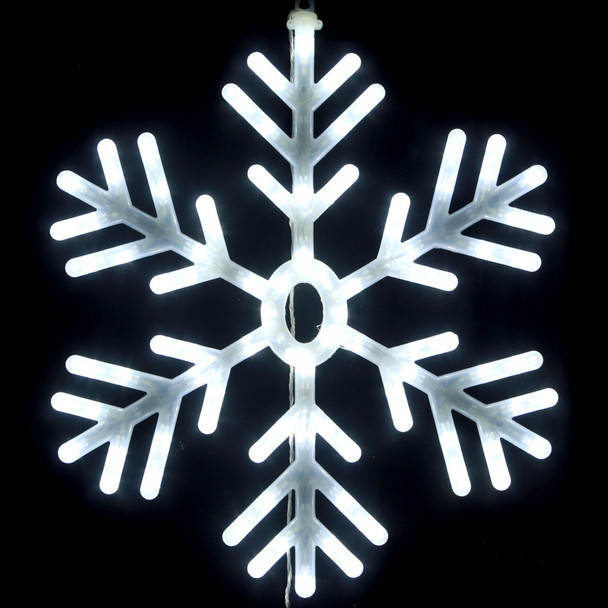 60CM LED White Snowflake Christmas Lights with Plastic Cover