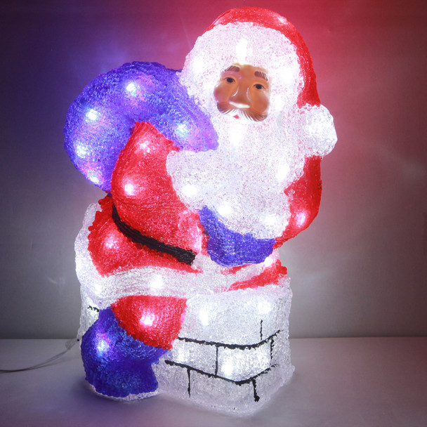 37CM Acrylic LED Santa on Chimney Christmas Lights