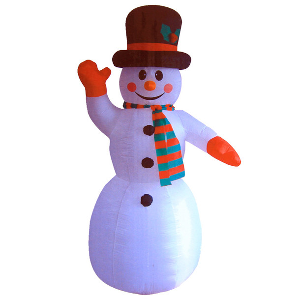 240CM Inflatable Christmas Snowman with LED Lights