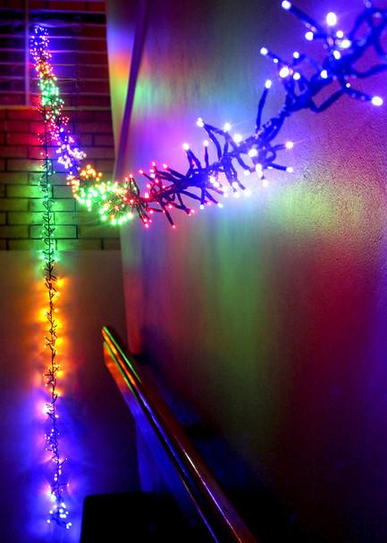 11.2M 800 LED Multi Colours Firecracker Chaser String Christmas Lights