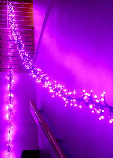 11.2M 800 LED Purple Firecracker Chaser String Christmas Lights