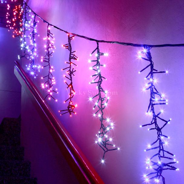 12M 768 LED Multi Colours Firecracker Icicle Christmas Lights