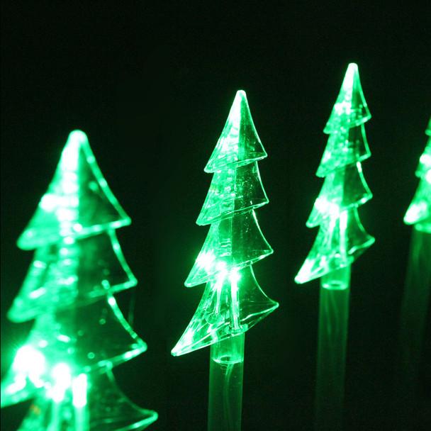 42CM 8pcs LED Solar Christmas Tree Pathway Garden Lights