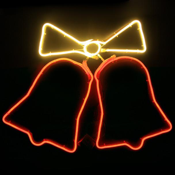 57CM Wide Neon Bells LED Christmas Motif Rope Lights