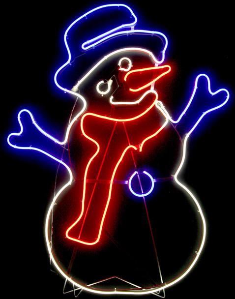 84CM LED Neon Snowman Christmas Motif Lights