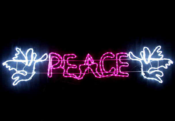 177CM LED 'PEACE' with Angels Christmas Motif Rope Lights