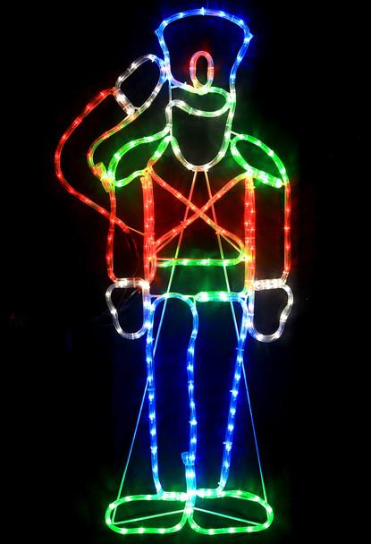 115CM LED Saluting Nutcracker Christmas Motif Rope Lights