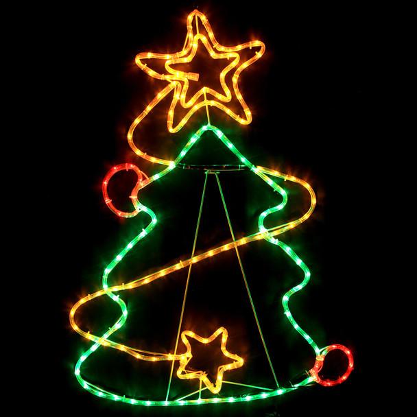 95CM LED Colourful Christmas Tree Motif Rope Lights