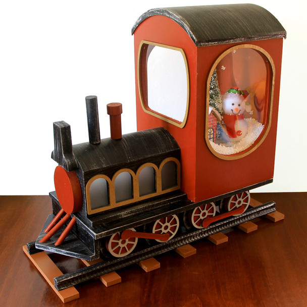 50CM Christmas Train with Snowing and Music Christmas Decorations