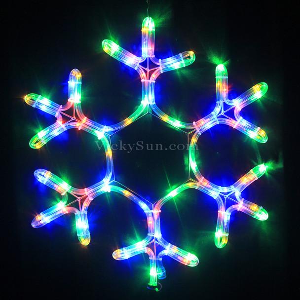 50CM High LED Multi Colour Snowflake Christmas Motif Lights